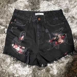 High waisted Sequin shorts